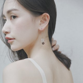 Zhu. Handmade Earrings - Ore Crystal (Natural Stone / Clip-on Earrings)