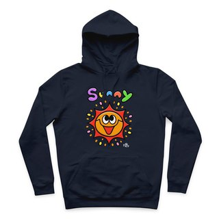 SUNNY- Navy - Hooded T-Shirt