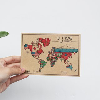The World Food Map Postcards