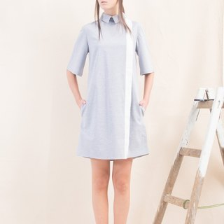 MINIMALIST LIGHT BLUE DRESS