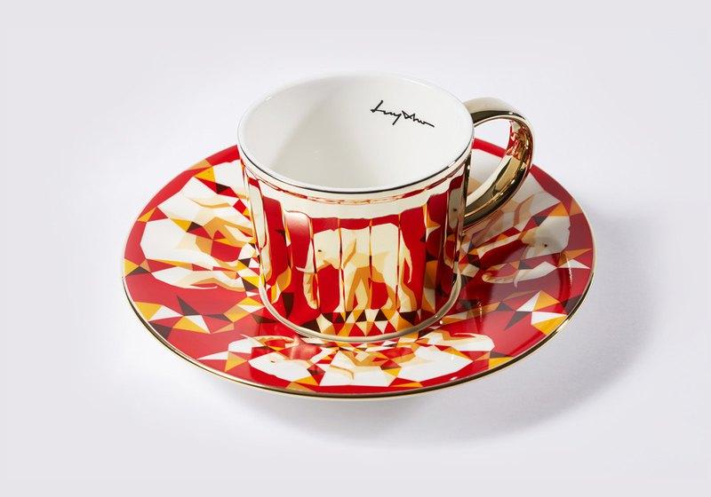 Luycho 鏡面倒影杯組 咖啡杯 _ 非洲象