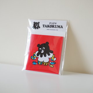 Octopus Bear Takokuma Square Small Card - Flower Flower Socks