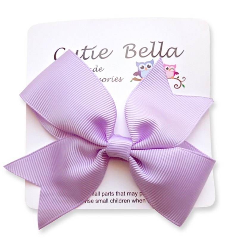 Cutie Bella Dream Bow Handmade Hair Accessories All Inclusive Bow Stretch Hair Clip - Lilac