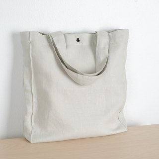 Casual Linen Tote Bag (Smoke)