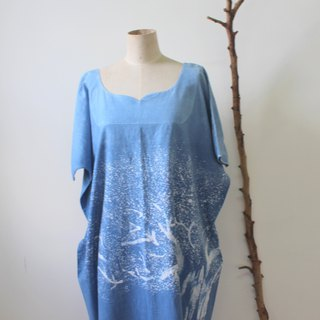 dye isvara pure hand-painted batik orderuniform 'blue tree symbiosis series