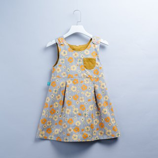 Pocket Dress - Autumn Leaves Newborn Children's Wear Children's Handmade Dress