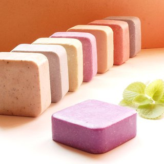 Purple grass black salt Shumin shampoo handmade soap is good to wash and not sticky (scalp maintenance body soap)