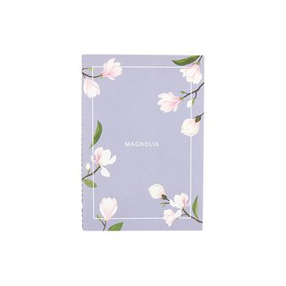 Flower bloom horizontal line notebook M size 01. Magnolia flower