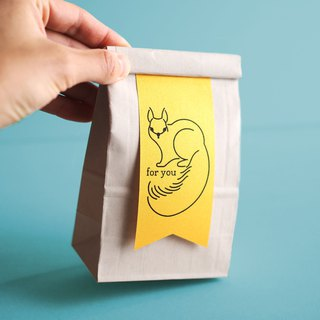 Paper ribbon gift bags squirrel