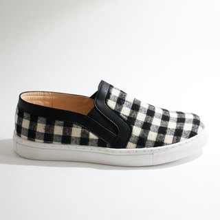 Parent-child shoes, Taiwanese lattice, parent-child casual shoes - black and white