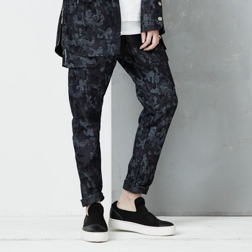 DYCTEAM - Camouflage Pattern Pants | tannins camouflage pants low