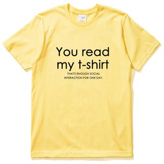 You read my t shirt yellow t shirt
