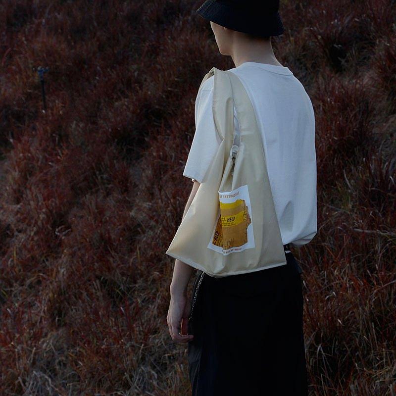 studioHELP維度生活 TPU復合面料印花手提袋單肩包