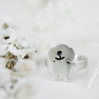 PET// Smile Dog Ring / sausage dog/ doxie
