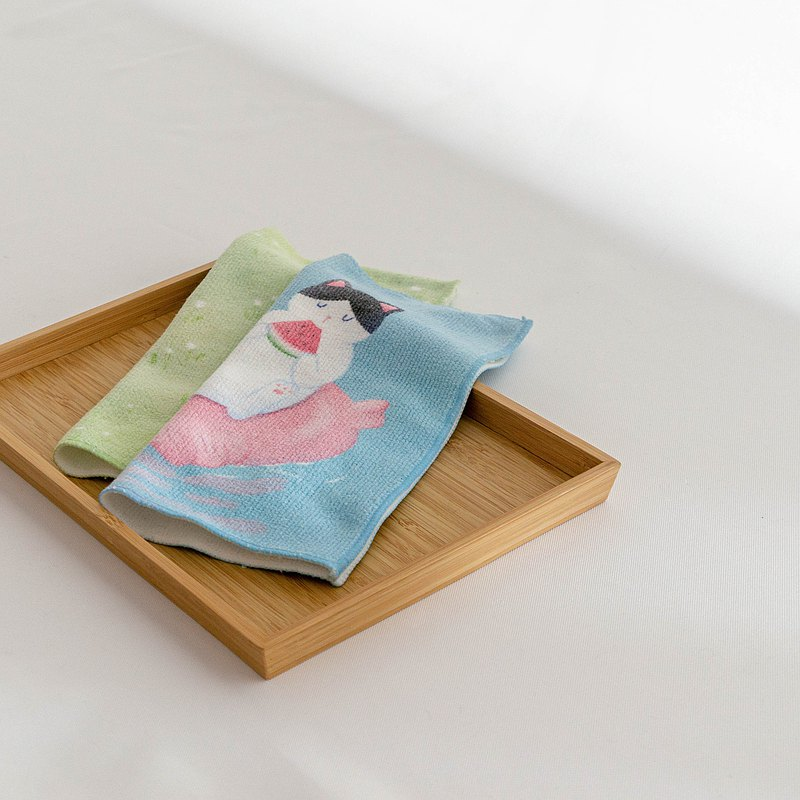 蓾蓾吃西瓜 方巾