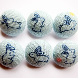 Sewing knitting cloth buckle handmade material blue Rabbit