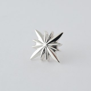 star pin brooch = silver 925 pin-brooch / tie tack =