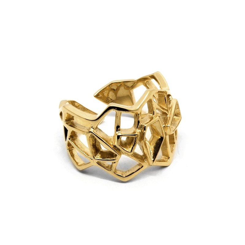 WIREFRAME Ring / Gold ( silver jewelry)