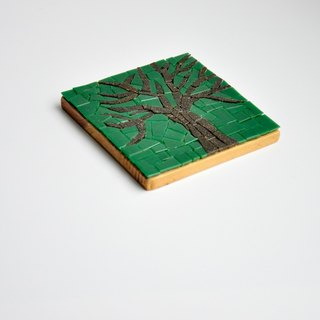 Big Tree / Handmade Mosaic Decorative Painting/ Wood coasters