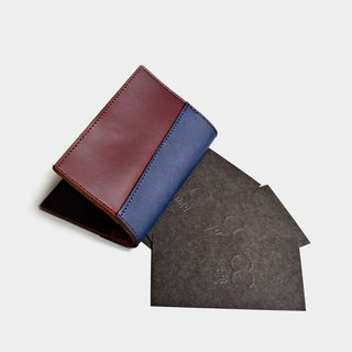 [The list of the final list] cowhide business card holder leather card folder leisure card holder blue wine red leather stitching Valentine's Day gift guest carved letter when the gift
