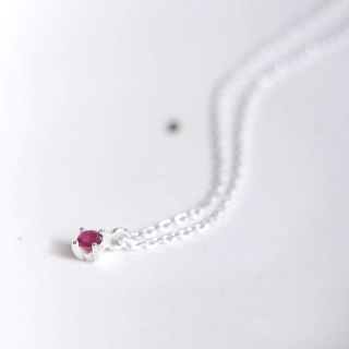 Natural ruby ​​necklace silver 925