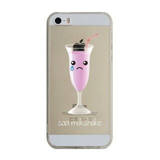 Custom sad Milkshake Transparent Samsung S5 S6 S7 note4 note5 iPhone 5 5s 6 6s 6 plus 7 7 plus ASUS HTC m9 Sony LG g4 g5 v10 phone shell mobile phone sets phone shell phonecase
