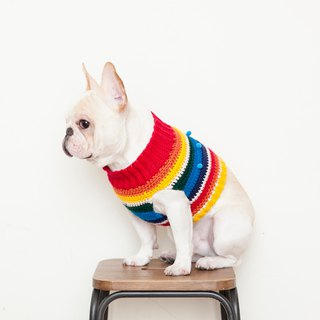Gnomes Ball Turtleneck - Vintage Rainbow