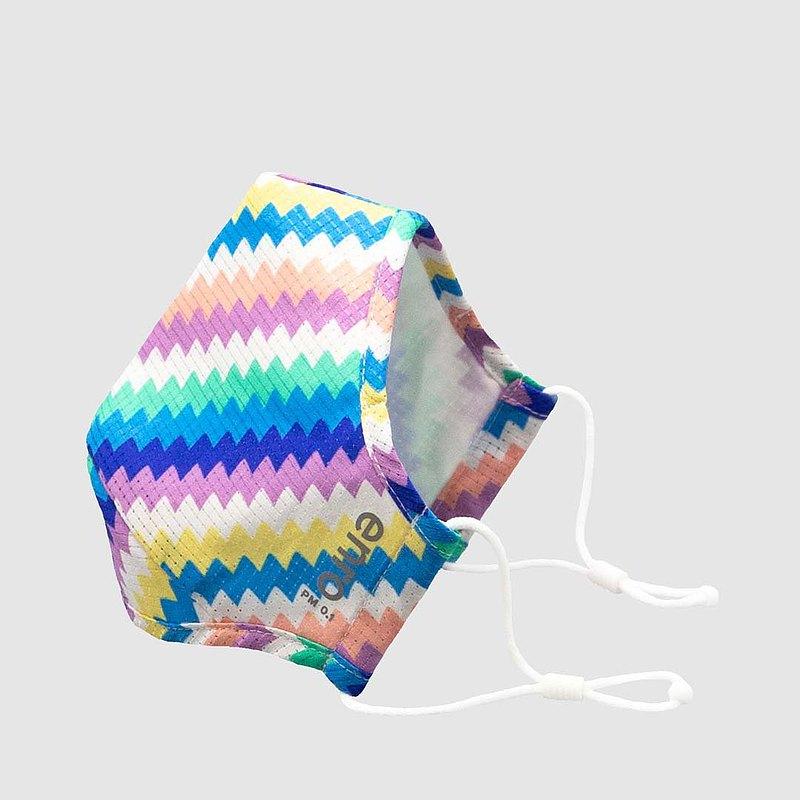 【夏日繽紛 | 彩虹】Zigzag 可重用口罩 100洗 | 高效防護