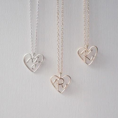 Initials on Heart Necklace
