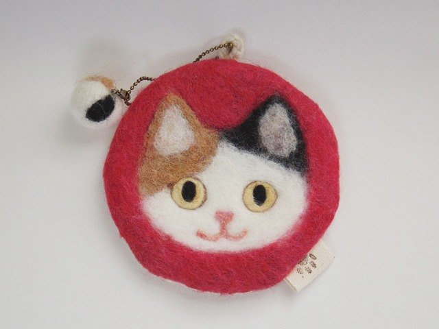 Cat face felt have various usage -calico-