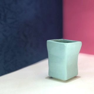 Goody Bag-small square cup two in (light blue + dark blue)