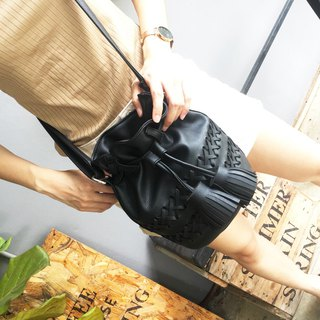 THE MINI OPIUM BAG BLACK (Bucket  Bag)