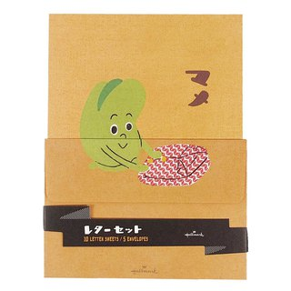 Naked peas folded into clothes letter set 10 enclosing 5 envelopes [Hallmark-card box card / multi-purpose]
