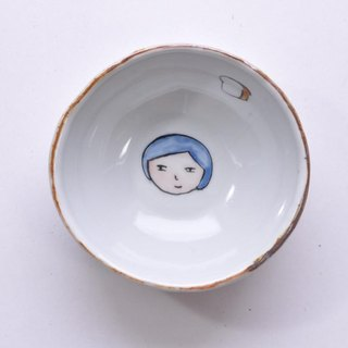 Okao bowl - a blue haired girl-