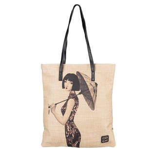 CoinQian sea Yun cotton shopping bag shoulder art bag
