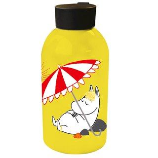Moomin Moomin authorized - large capacity stainless steel thermos (yellow)