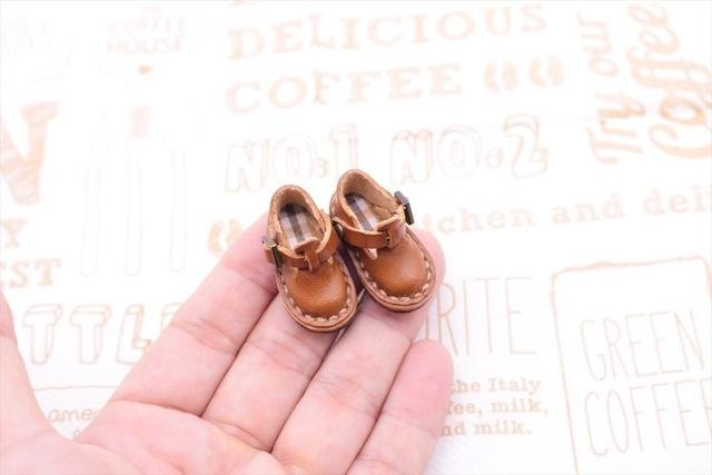 Small leather Sabo Shoes | chocolate