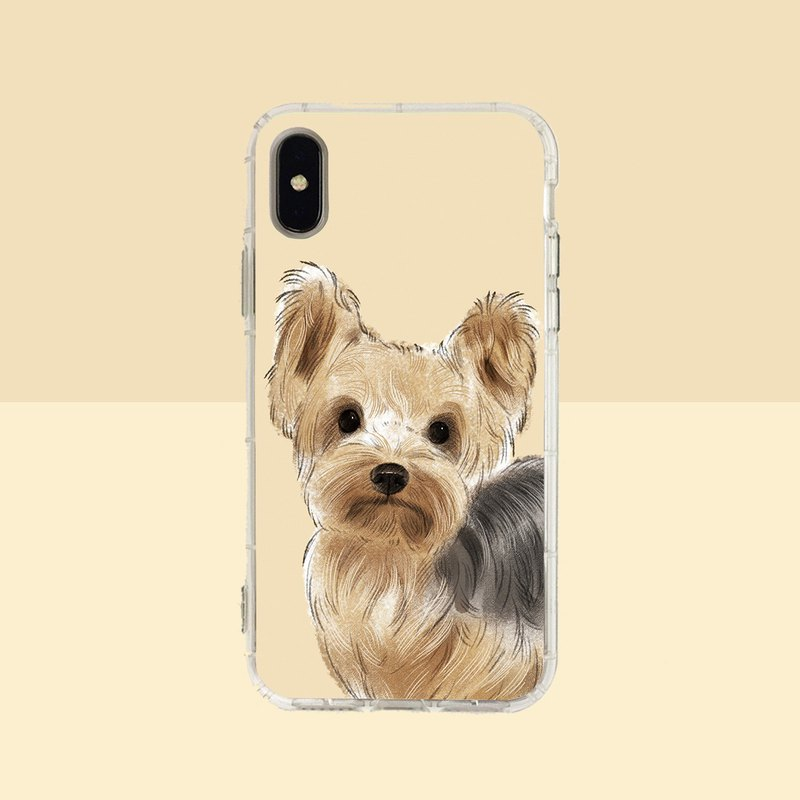 Big face Yorkshire embossed air shell-iPhone/Samsung, HTC.OPPO.ASUS original pet phone case