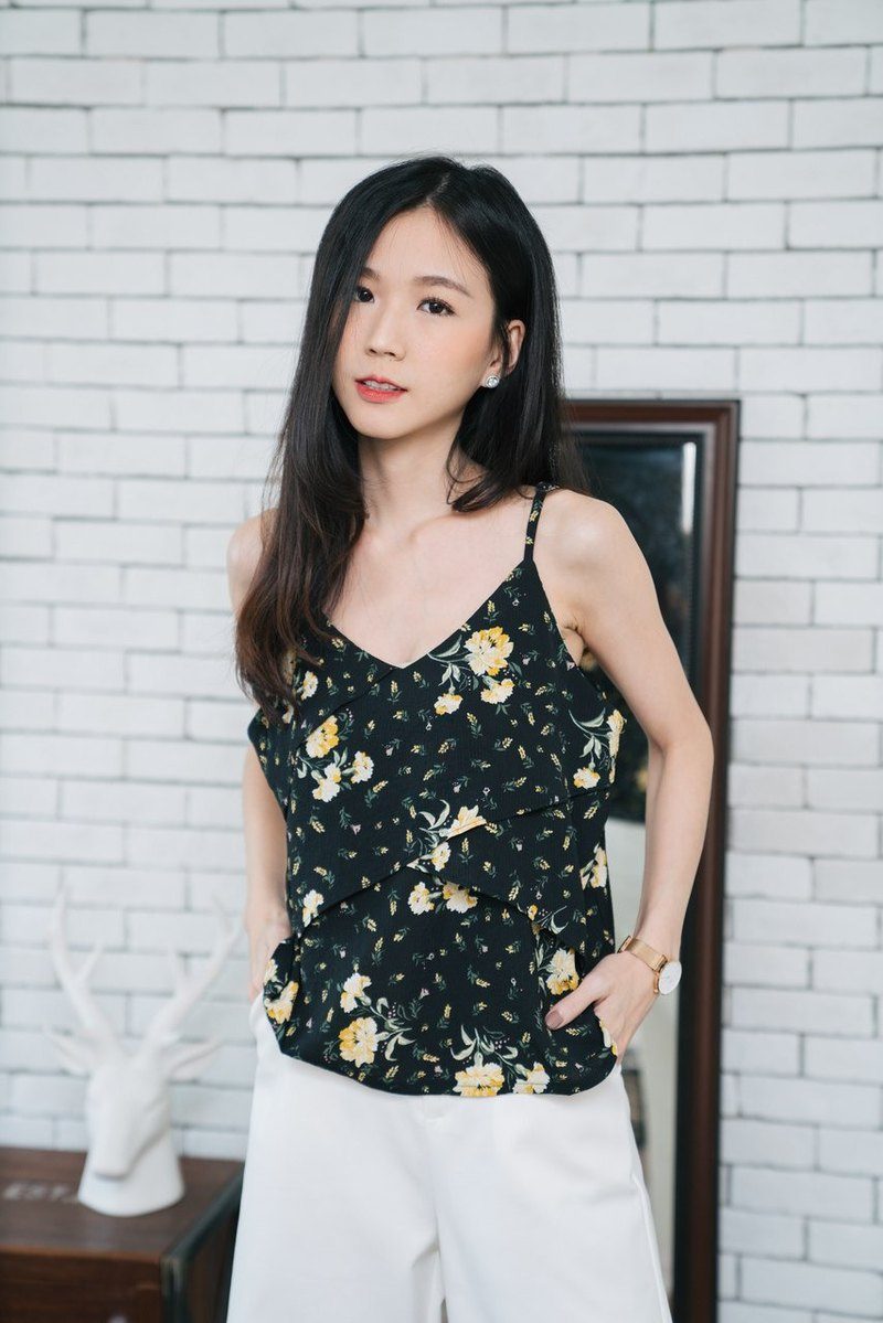 Floral layer cami