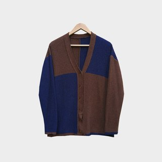 Discolored vintage / Colorblock knit coat no.A95 vintage