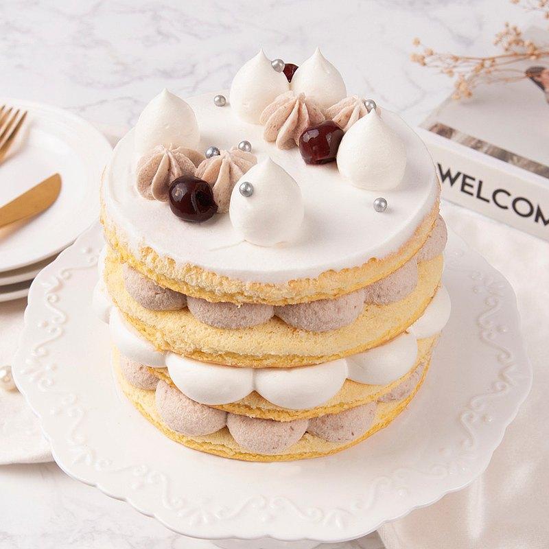 【高雄三多店】芋見幸福鮮奶油蛋糕・蛋糕烘焙DIY・平板教學