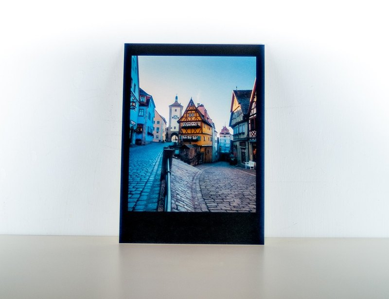 Photographic Postcard: Fork in the road, Rothenburg ob der Tauber, Germany
