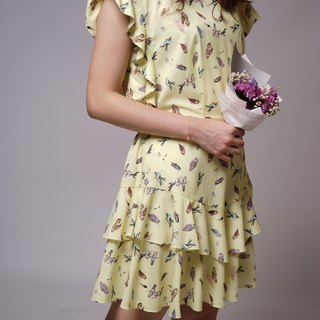 """Summer cool series"" owl wisdom lotus leaf dress"