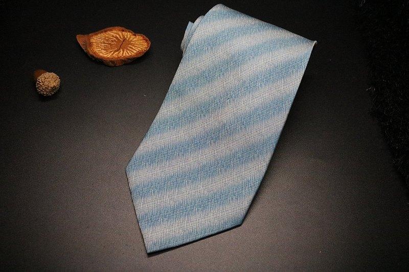 果綠色條紋領帶/真絲紳士商務necktie