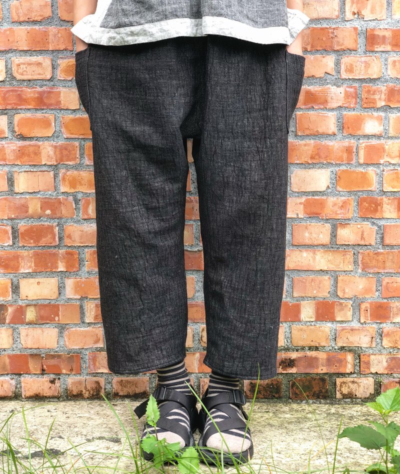 Autumn and winter double linen trousers