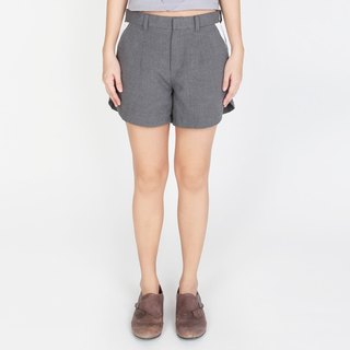 COTTON GREY SHORTS WITH DIGITAL PRINTED PANEL LCC