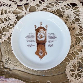 [Good day fetish] 2 German vintage retro antique clock commemorative snack plate