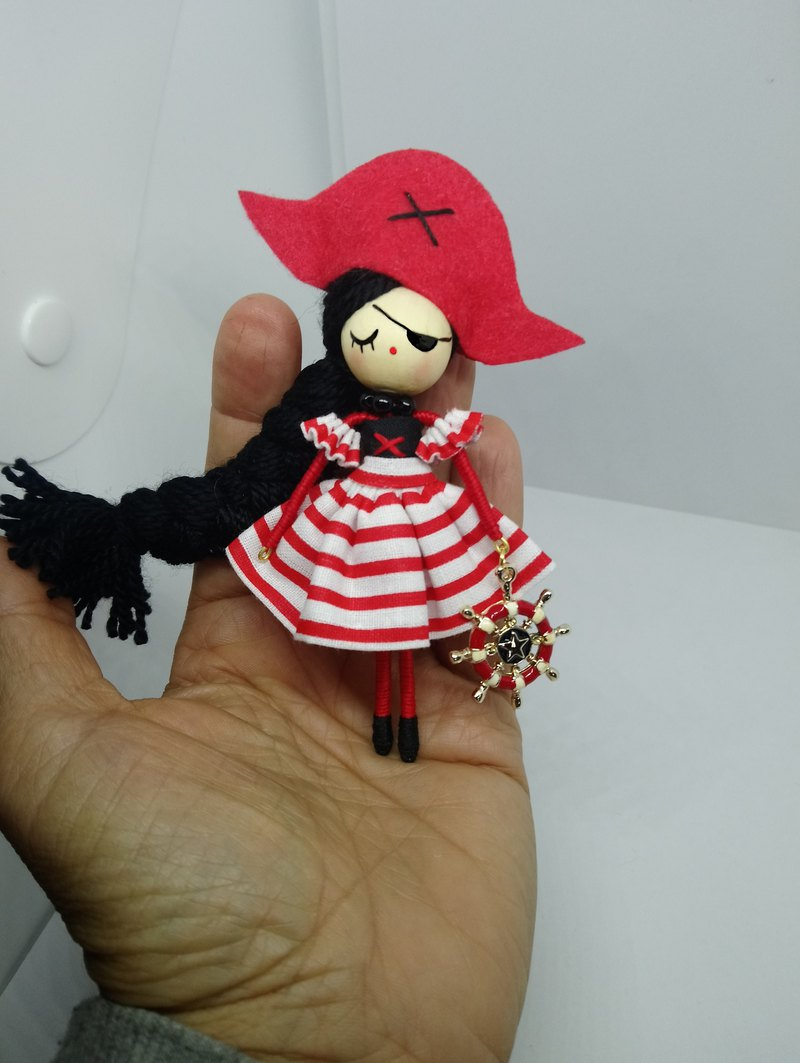 Pirate brooch doll
