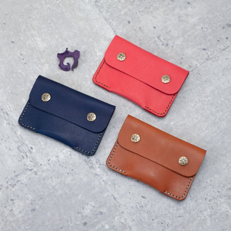 Be Two ∣ double buckle business card holder business card 匣 business card set leather case vegetable tanned leather hand sewing