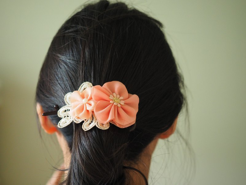 Handmade fabric flower baby/kid hair accessory